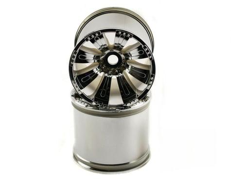 Axial 8 Spoke Oversize Monster Truck Wheel (2) (Chrome)