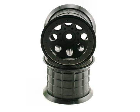 Axial 8 Hole Beadlock Monster Truck Wheel (2) (Black)