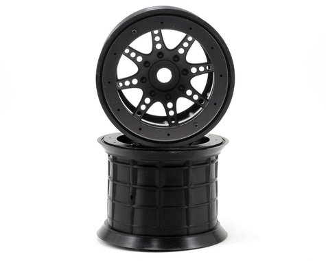 "Axial 8-Spoke 3.8"" Oversize Beadlock Monster Truck Wheel (2) (Black)"