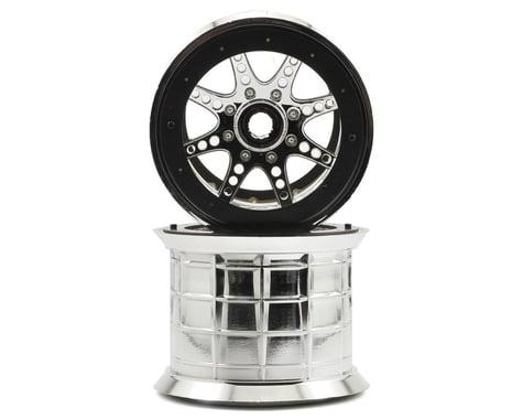 Axial 8 Spoke Oversize Beadlock Monster Truck Wheel (2) (Chrome)