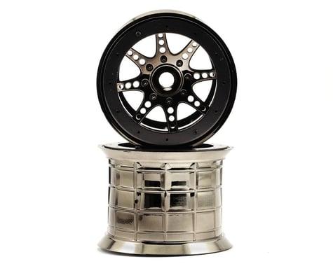 Axial 8 Spoke Oversize Beadlock Monster Truck Wheel (2) (Black Chrome)