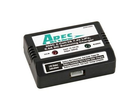 Ares Charger DC Balancing 0.5A, 0.5205C 2-Cell / 2S 7.4V LiPo (Gamma 370)