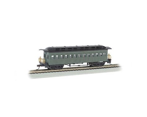 Bachmann Painted Unlettered 1860-80's Era Coach (Green) (HO Scale)