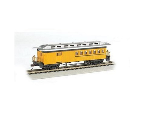 Bachmann Painted Unlettered 1860-1880's Era Combine (Yellow) (HO Scale)