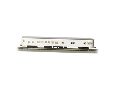 Bachmann Undecorated Aluminum Smooth-Side Observation Car w/ Lighted Interior