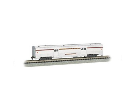 Bachmann Pennsylvania 72' 2-Door Baggage Car (Silver/Tuscan Stripe) (N Scale)