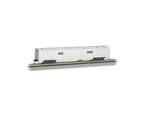 Bachmann Unlettered Aluminum 72' 2-Door Baggage Car (N Scale)