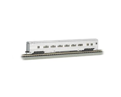 Bachmann Unlettered Aluminum 85' Coach w/ Lighted Interior (N Scale)