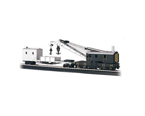Bachmann Painted Unlettered 250-Ton Steam Crane & Boom Tender (HO Scale)