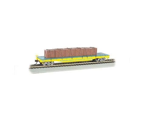 Bachmann Ringling Bros & Barnum & Bailey Flat Car w/ Crates (Yellow)