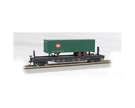 Bachmann B&O 52' Flat Car w/ Railway Express Agency 35' Trailer (HO Scale)