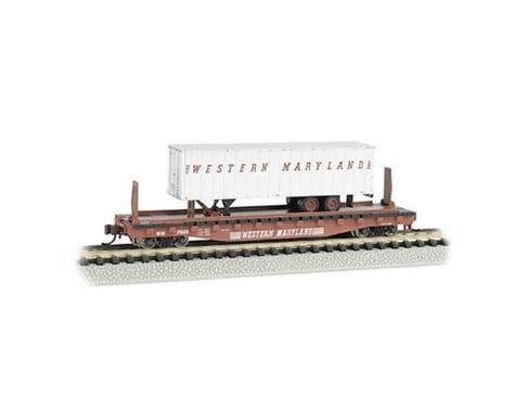 Bachmann Western Maryland 52' Flat Car w/ WM 35' Trailer (N Scale)