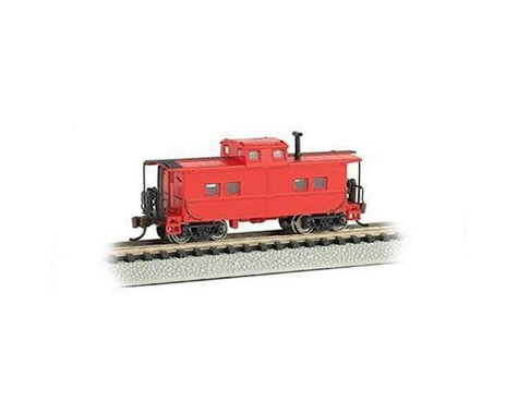 Bachmann Unlettered NE Steel Caboose (Red) (N Scale)