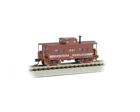 Bachmann Western Maryland #1863 NE Steel Caboose (Speed Lettering) (N Scale)