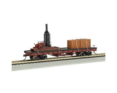 Bachmann Log Skidder (Non-Operating) W/ Crates on 40' Log Car (HO Scale)