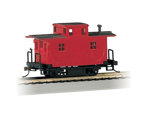 Bachmann Unlettered Bobber Caboose (Red) (HO Scale)