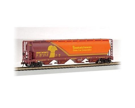 Bachmann Saskatchewan 4-Bay Cylindrical Grain Hopper (HO Scale)