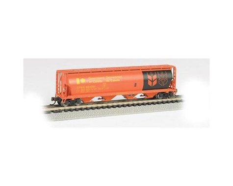 Bachmann Government Of Canada 4-Bay Cylindrical Grain Hopper (Red) (N Scale)
