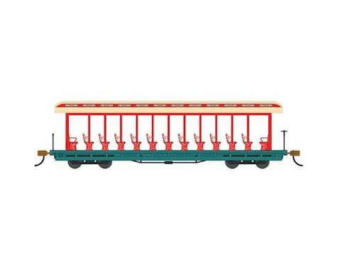 Bachmann Amusement Park Jackson Sharp Open-Sided Excursion Car (Cream/Red)