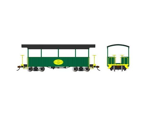 Bachmann H. Lee Riley Excursion Car (Green/Black Roof) (On30 Scale)