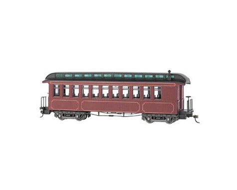 Bachmann Unlettered Observation Coach w/ Lighted Interior (Burgundy/Black)