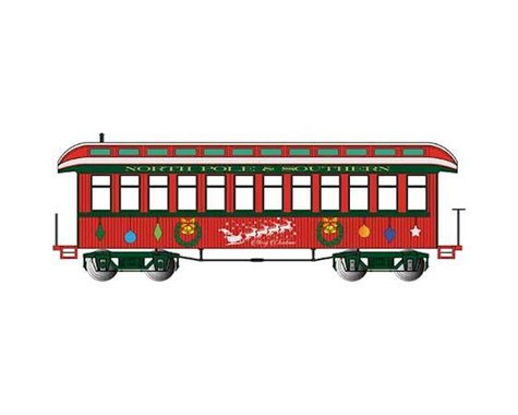 Bachmann Christmas Observation Coach w/ Lighted Interior (On30 Scale)