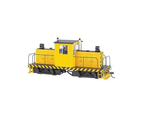 Bachmann Whitcomb 50-Ton Center Cab w/ DCC (Yellow/Black Stripes) (On30 Scale)