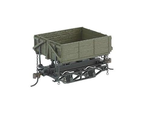 Bachmann Wood Side Dump Car (Green) (3) (On30 Scale)