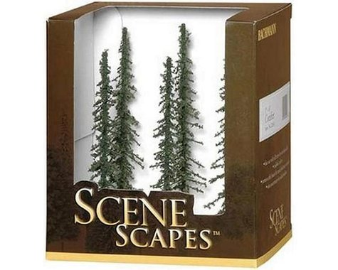 """Bachmann Scenescapes Conifer Trees (5-6"""") (6)"""