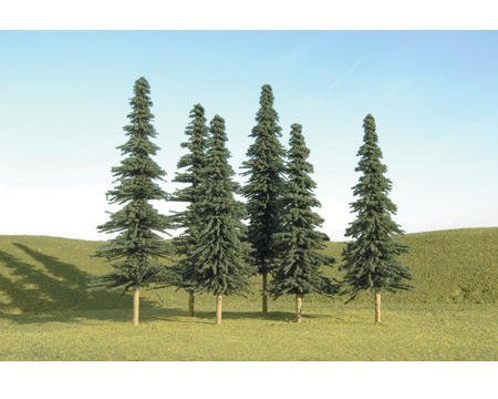 """Bachmann Scenescapes 5-6"""" Spruce Trees (6)"""