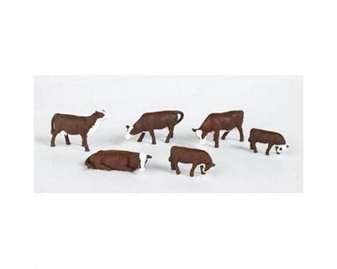 Bachmann SceneScapes Cows (Brown & White) (HO Scale)