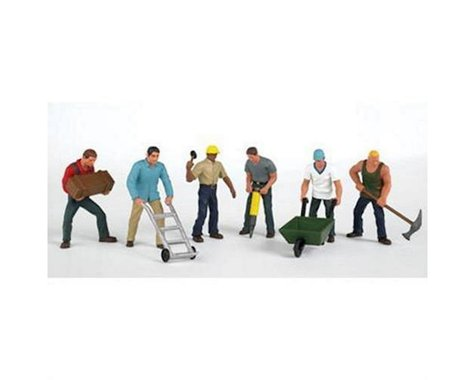 Bachmann SceneScapes Construction Workers (6) (HO Scale)