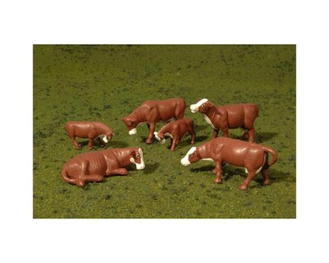 Bachmann SceneScapes Cows (Brown & White) (6) (O Scale)