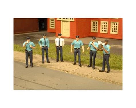 Bachmann SceneScapes Police Squad (6) (O Scale)