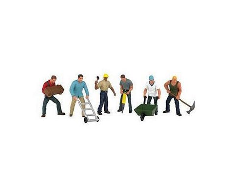 Bachmann SceneScapes Construction Workers (6) (O Scale)