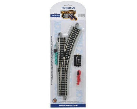 Bachmann E-Z Track Remote Right-Hand Turnout (HO Scale)