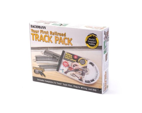 Bachmann E-Z Nikel Silver First Railroad Track Pack (HO Scale)