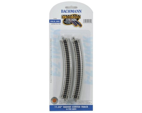 "Bachmann E-Z Track 11 1/4"" Radius Curved Track (6) (N Scale)"