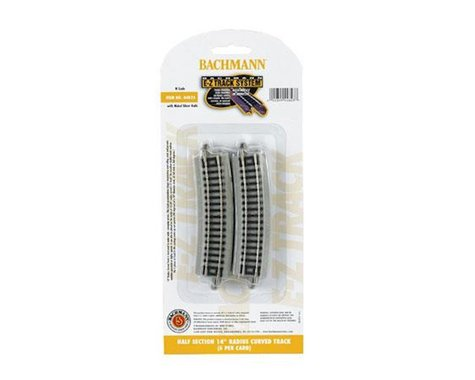"""Bachmann E-Z Track Half Section 14"""" Radius Curved Track (6) (N Scale)"""
