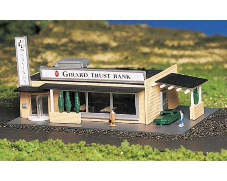 Bachmann N-Scale Plasticville Built-Up Drive-Up Bank