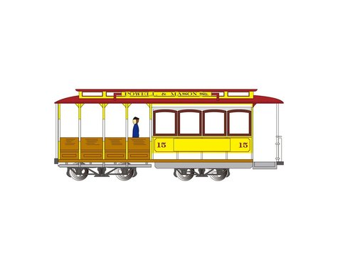 Bachmann HO Cable Car Yellow & Red