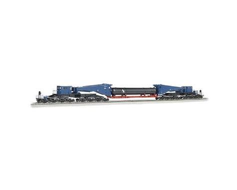Bachmann HO Spectrum Scnabel w/Retort/Cylider Load,Blue/Blk