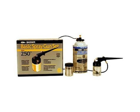 Badger Air-brush Co. 250 Spray Gun Set with Propellant