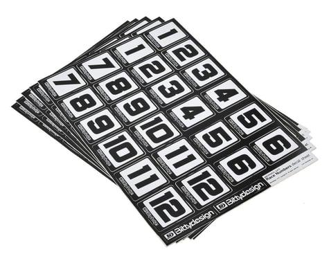 Bittydesign Race Number Decal Sheet (Medium Pack - 5 Sheet)