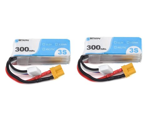 BetaFPV 3s 45C LiPo Battery (11.1V/300mAh) (2) (R-Version)
