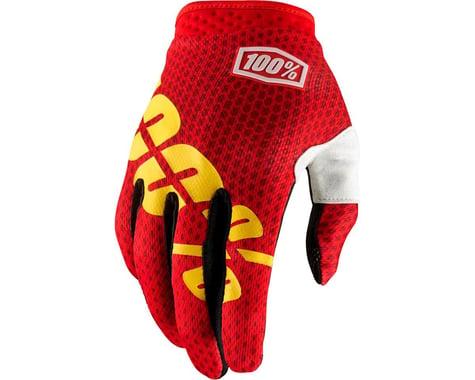 100% iTrack Full Finger Glove (Fire Red)