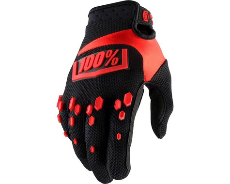 100% Airmatic Full Finger Glove (Black/Red)