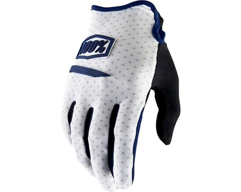 100% Ridecamp Men's Full Finger Glove (White)