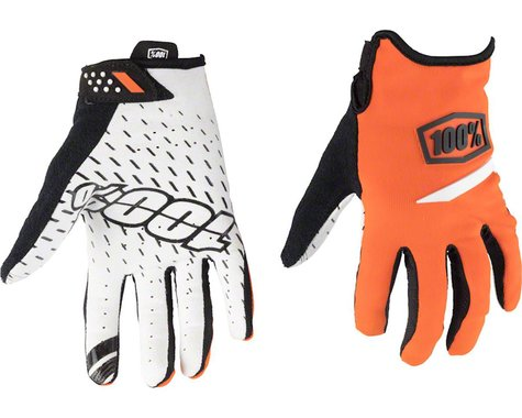 100% Ridecamp Men's Full Finger Glove (Orange)