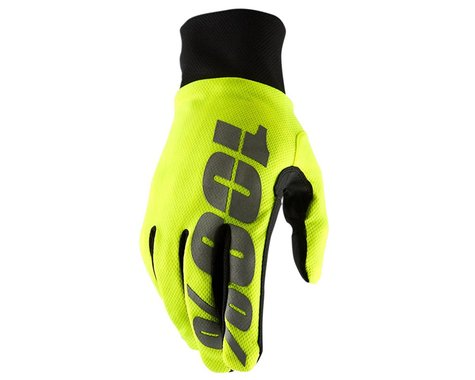 100% Hydromatic Waterproof Gloves (Neon Yellow) (L)